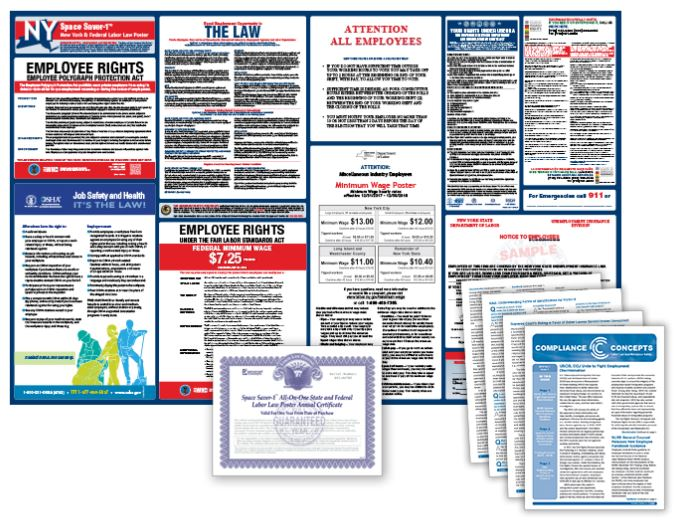 New York Labor Law Poster and Subscription